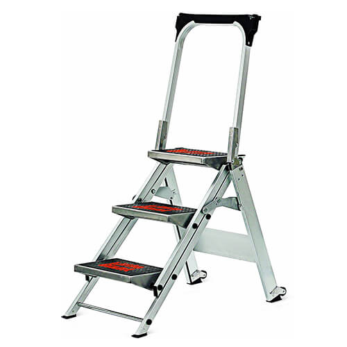 Little Giant, 3 step, Aluminum, 2-14 Feet, 300 lb. Capacity Stepladder