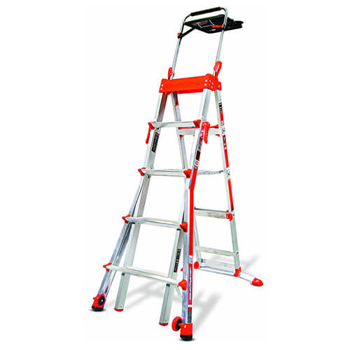 Select Step 5-Feet to 8-Feet 300-Pound Duty Rating Adjustable Step ladder