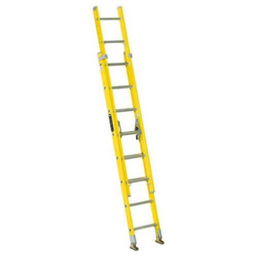 Louisville Ladder FE1716 Fiberglass Extension Ladder, Type I, 16 Feet, 250 Pound Duty Rating