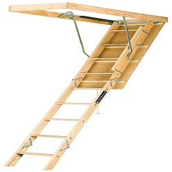 Louisville Ladder S254P 250-Pound Duty Rating Wooden Attic Ladder