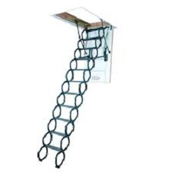 The Fakro (66875) Insulated Steel Scissor Attic Ladder