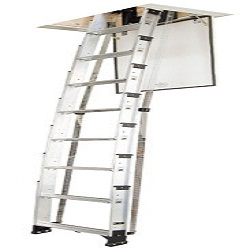 Werner AA10 250-Pound Duty Rating Televator Aluminum Universal Telescoping Attic Ladder